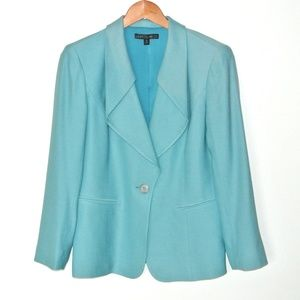 Lafayette 148 Virgin Wool Silk 8 Blazer Jacket